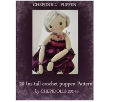 PATTERN Crochet Puppet 20 Ins tall crochet puppen por chepidolls