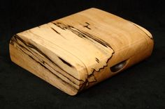 Spalted Maple Keepsake Box. $33.00, via Etsy. Smaller than what I'm looking for, but the wood is gorgeous.