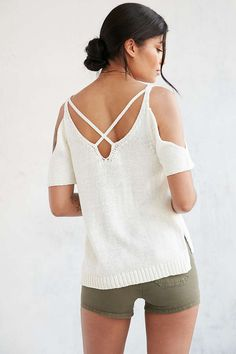Ecote High Tide Cold Shoulder Sweater - Urban Outfitters