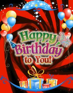 Happy Birthday To You Card.