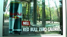 Gewista: Red Bull Zero am City Light & Rolling Board