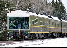 A full house in the theater car Sandford Fleming as a CN inspection train rolls south on the former DM&IR. The train operated from Winnipeg to Superior.