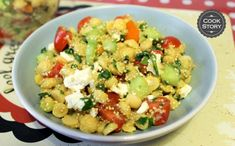 Ρεβιθοσαλάτα με κινόα και ανθότυρο | Cookstory.gr Potato Salad, Potatoes, Ethnic Recipes, Food, Potato, Essen, Meals, Yemek, Eten