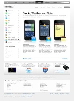Apple - iPhone - Features - Stocks, Weather, and Notes (11.06.2008)