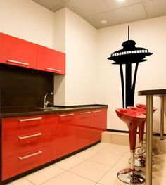 Wall Decal Seattle Space Needle Landmark by WallStarGraphics, $50.00