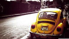 #cars #carro #vintage #fusca #amarelo