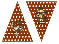 Cute Owl Thanksgiving bunting $2 on TpT