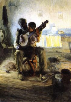 The Banjo Lesson - Henry Ossawa Tanner  (June 21, 1859 – May 25, 1937) http://www.the-athenaeum.org/art/full.php?ID=45450