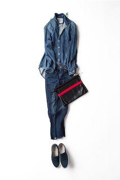 コーディネート詳細(大好きなデニム×デニムに トレンド小物をいろいろ……)| Kyoko Kikuchi's Closet|菊池京子のクローゼット