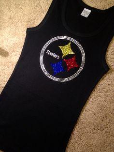 96498b15 Pittsburgh Steelers Football Rhinestone Crystal Tank Top, NFL Football,  Steelers shirt, Tailgating, Fantasy Football, S-3XL plus sizes too on Etsy,  $24.95