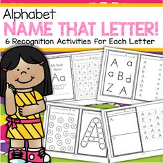 Great for Letter of the Week activities- 26 Booklets - 106 pages  This is a set of 26 alphabet recognition booklets, one for each letter, featuring both upper and lower case. There are 6 letter activities in each booklet - stamping, coloring, connecting, cutting and pasting.   Make booklets by cutting out the pages, stacking them, and stapling on the left side. The last activity in each booklet is a cut and paste – the last page is for cutting out.  106 pages  ***Download the PREVIEW file to…