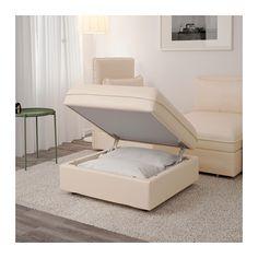 VALLENTUNA Storage seat section - Murum beige - IKEA