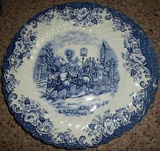 JOHNSON BROS. DINNER PLATE, COACHING SCENES