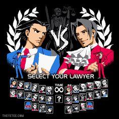 "Phoenix Wright ""Tournabout Tournament"" shirt ⊟ ... - Tiny Cartridge 3DS - Nintendo 3DS, DS, Wii U, and PS Vita News, Media, Comics, & Retro Junk"