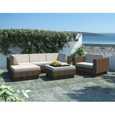 dCOR design Park Terrace 6 Piece Deep Seating Grouping With Cushion | AllModern $2300