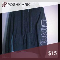 LOVE hoodie Fits like a xl/1x Reflex Tops Sweatshirts & Hoodies