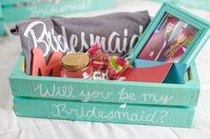 DIY Bridesmaid proposal boxes! How to Ask your bridal party in the perfect way with these cute DIY Bridesmaid gifts! Watch the full video tutorial on how to create these Bridesmaid boxes on my channel: https://www.youtube.com/watch?v=pFCqezSqRLQ