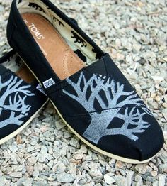 Trees Print Toms Shoes.