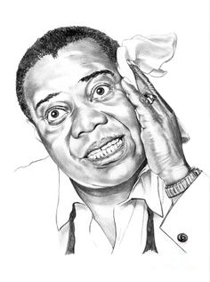Louis Satchmo Armstrong by Murphy Elliott ~ traditional pencil art