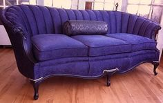 Antique sofa, completed re-upholstery commission.