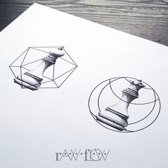 Couple tattoo love chess dotwork geometric