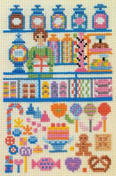 candy shop cross stitch!