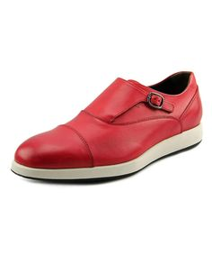 Perfect Styles Hogan H209 Francesina Con Fibbia Round Toe Leather Oxford Red For Men Online Sale
