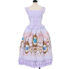Écailles De Lune|エカイユ・ドゥ・リュンヌのBurial Of Butterfly ジャンパースカート IIです。ロリータファッション服の公認通販ワンダーウェルト フルールでは他にもÉcailles De Lune|エカイユ・ドゥ・リュンヌの商品を12点取り扱っています。海外発送も行っております。