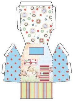 build a paper house. would be cute for a cupcake, a small housewarming gift, or a small gift for newlyweds. Diy Paper, Paper Art, Paper Crafts, Home Crafts, Diy And Crafts, Crafts For Kids, Christmas Paper, Christmas Crafts, 3d Templates