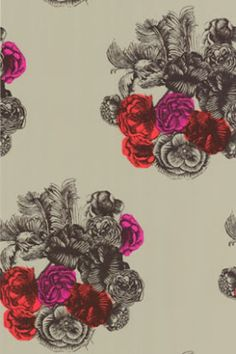 """Cole and Son """"Fornasetti Peonie"""" Wallpaper"""