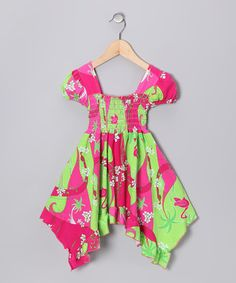 Take a look at this Pink Flamingo Deco Smocked Dress - Infant, Toddler & Girls by Corky's Kids on #zulily today!