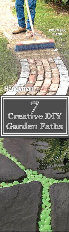 7 Creative DIY garden paths copy #GardenPath