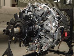 """BMW """"801D-2"""" is a 14-Cylinder Air Cooled Radial Engine - Rated at 1,677 hp – Used on the Focke Wulf Fw-190 - Air was Funneled Through the Prop Spinner, Through Reducers and Over the Heads Heating the Air. This Heated Air Combined with the Thrust from the Prop, Generated Additional Thrust."""