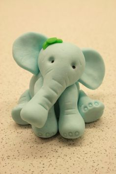 fondant elephant to cute for a cake topper