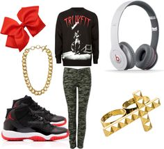 """""""#Trukfit"""" by xdeniseeeee ❤ liked on Polyvore"""