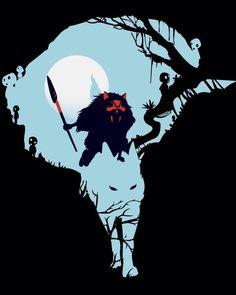 Cool art for fans of Princess Mononoke. Hopefully Unamee prints this tshirt…
