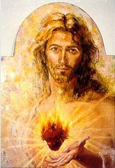 The Sacred Heart of Christ that burns with love for me.