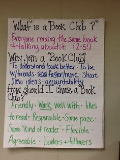 Choosing a book club