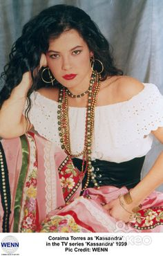 Coraima Torres as 'Kassandra' in the TV series 'Kassandra' 1999Pic