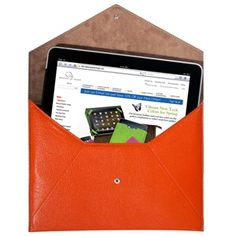 iPad envelope & you can monogram it!  super easy to find in a bag w/ the bright orange!