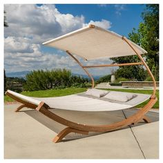 Marrakech Outdoor Wood Sunbed with Canopy by Christopher Knight Home (Brown), Patio Furniture Outdoor Daybed, Outdoor Furniture, Outdoor Decor, Modern Furniture, Rustic Furniture, Furniture Deals, Furniture Layout, Antique Furniture, Furniture Design