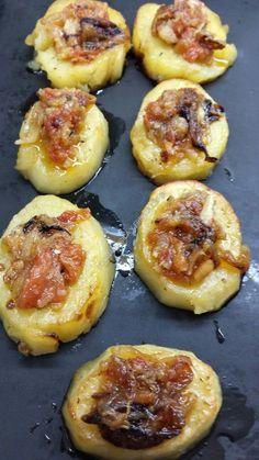Imagen Diet Recipes, Chicken Recipes, Potato Recipes, Breakfast Potatoes, Roasted Potatoes, Sin Gluten, Chutney, Food And Drink, Appetizers