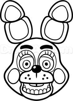 Mangle Golden Freddy Face Fnaf Coloring Pages Printable And Book To Print For Free Find More Online Kids Adults Of