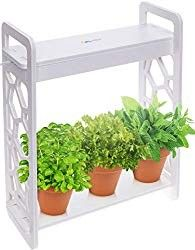 Mindful Design LED Indoor Herb Garden with Timer – at Home Mini Planter Kit for Herbs, Succulents, and Vegetables w/Hexagon Cutout (White) - Modern Herb Garden Kit, Lawn And Garden, Herbs Garden, Garden Ideas, Garden Types, Garden Pots, Gardening For Beginners, Gardening Tips, Indoor Gardening
