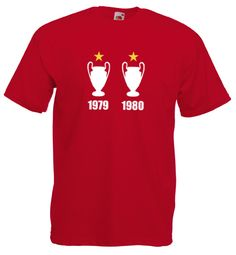 European Cup Champions League Mens Football T-Shirt Nottingham Forest Inspired Tshirt - Worldwide Delivery Nottingham Forest, European Cup, Men's Football, Champions League, Delivery, Inspired, Liverpool, Sports, Mens Tops