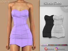 The Sims 4 mody do gry: Mini sukienka gorsetowa od Idsims hashtags Sims Baby, Sims 4 Teen, Sims Cc, The Sims 4 Pc, Sims Four, Sims 4 Mods Clothes, Sims 4 Clothing, Sims 4 Toddler Clothes, Vêtement Harris Tweed