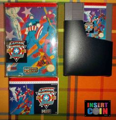 JUEGO NINTENDO NES CAPTAIN AMERICA AND THE AVENGERS PAL B NES BOX & MAN REPRO