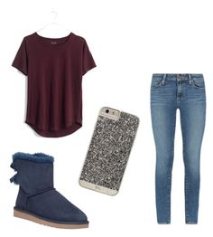 """Untitled #31"" by ashtian22 ❤ liked on Polyvore featuring UGG Australia, Madewell, Paige Denim and Case-Mate"