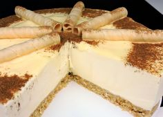 No Egg Desserts, Flan, Canapes, Recipe For 4, New Recipes, Tiramisu, Camembert Cheese, Mousse, Cheesecake