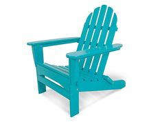 What could be better than sitting in the warm sun in a classic Adirondack chair? The epitome of summer relaxation! Enjoy comfort and relaxation in the deep contoured seat of our classic folding Adirondack chair, attractive, durable and easy to maintain. Plastic Patio Chairs, Recycled Plastic Adirondack Chairs, Polywood Adirondack Chairs, Adirondack Chairs For Sale, Outdoor Seating, Outdoor Chairs, Outdoor Fun, Rustic Furniture, Outdoor Furniture